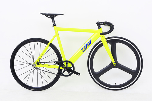 ZINN BIKE Janus Aero Type Track/Fixie Bike (Neon Yellow)