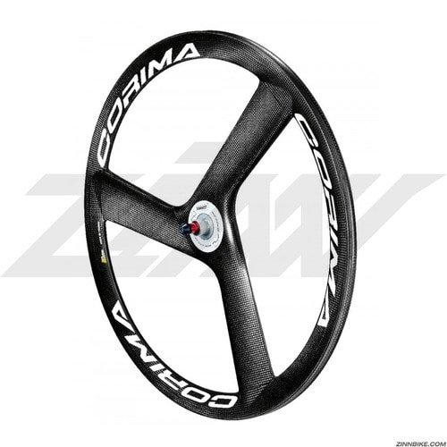 CORIMA HM Carbon 3 Spoke Front Wheel Set (Track/3K)