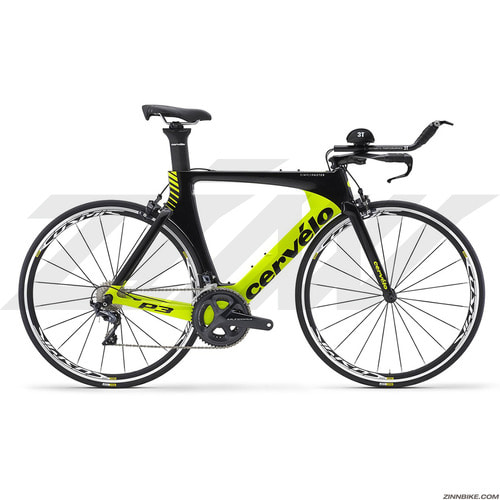 Cervelo P3 Ultegra 8000 TT/Road Bike (BLACK/FLUORO)