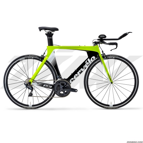 Cervelo P3 Ultegra Di2 8050 Road Bike (Fluoro/Black/White)