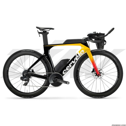 Cervelo P-Series Disc Force eTap AXS 1 Road Bike (Light Orange/Coral)