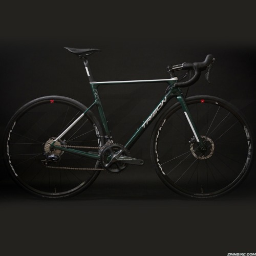 TRIGON Darkness Evo Green Ultegra Di2 R8070  Road Bike (Fulcrum Racing 700 Disc Brake)