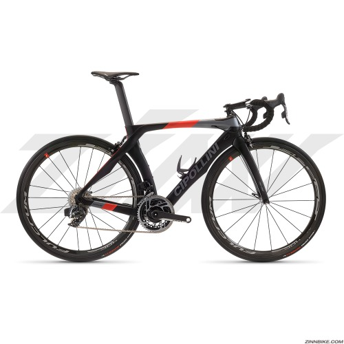 MCIPOLLINI RB1K The One Non-Disc Road Frame Set (Black Grey Red Matt)