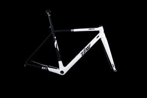 ZINN BIKE Vento RF1 Road Frame Set (White&Metallic Silver)