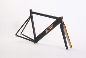 ZINN BIKE Janus Pursuit Track/Fixie Frame Set (Matte Black)