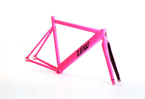 ZINN BIKE Janus Pursuit Track/Fixie Frame Set (Hot Pink)