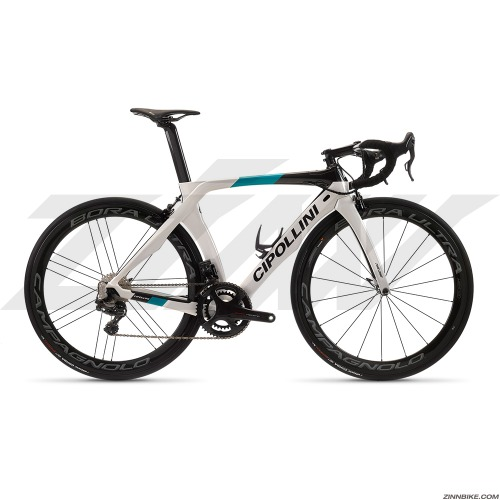 MCIPOLLINI RB1K The One Non-Disc Road Frame Set (Light Grey Carbon Ocean Shiny)