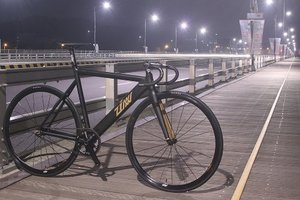 ZINN BIKE Janus Track/Fixie Bike (Matte Black)